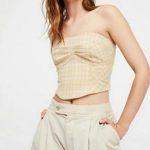 Free People Out West Corset, Ivory Combo, 12